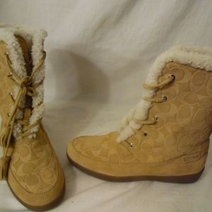 Coach Tuesday Shearling lined Suede Boots SIZE 11